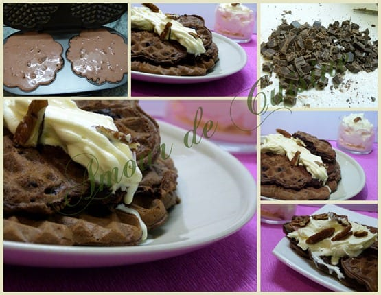 gaufres au chocolat style brownie