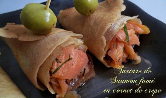 tartare de saumon – aux crepes
