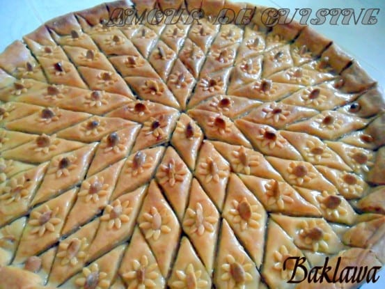 Baklawa constantinoise amour de cuisine - Decoration gateau traditionnel algerien ...