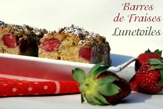 barres aux fraises - crumble de fraises
