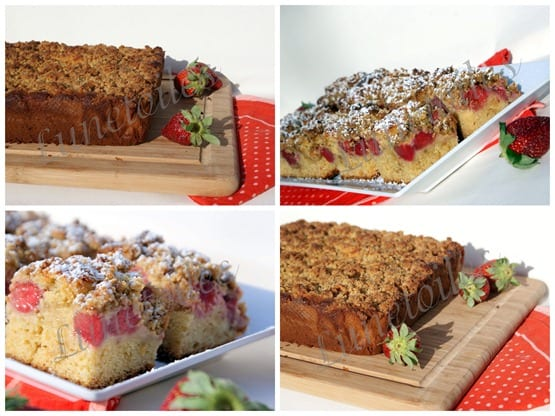 barres de fraises - crumble de fraises