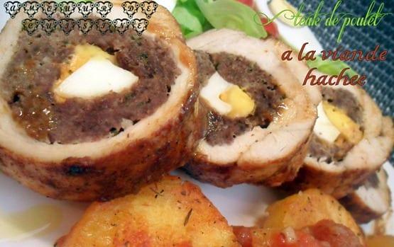 Blanc de poulet farci a la viande hach e amour de cuisine for 1 amour de cuisine