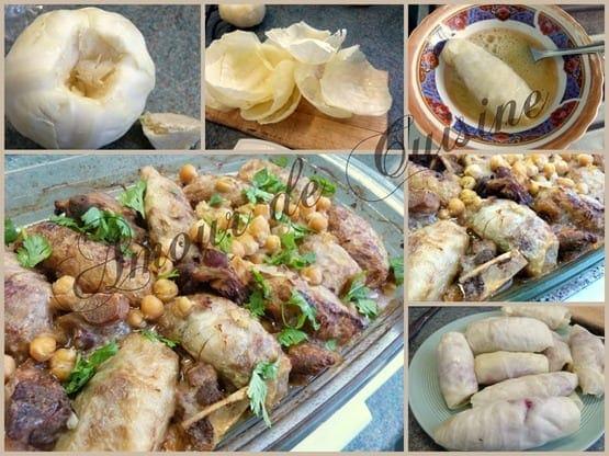 choux farcis a la viande hachee, cuisine algerienne