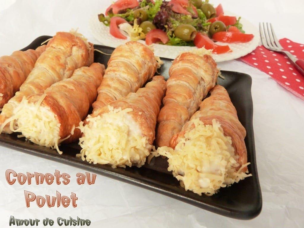 Cornets au poulet amour de cuisine - Recette amour de cuisine ...