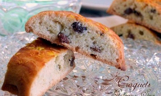 croquant aux raisins secs ou croquets gateaux algeriens