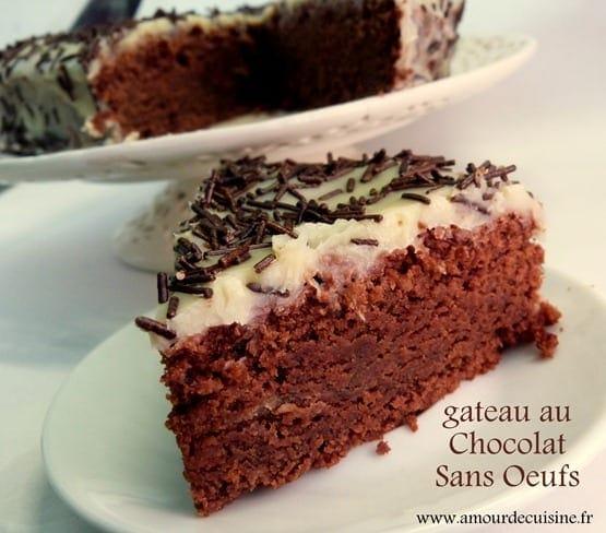 Gateau au chocolat sans oeufs recette delicieuse amour for 1 amour de cuisine