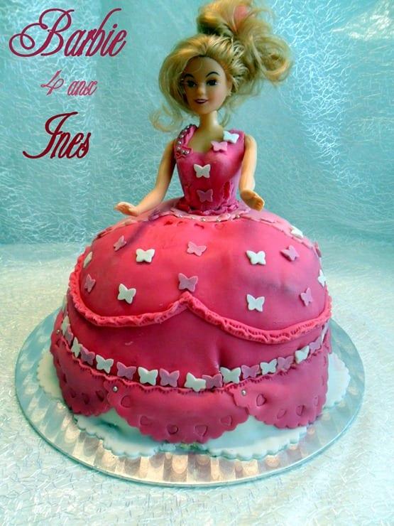 gateau d'anniversaire princesse barbie 001