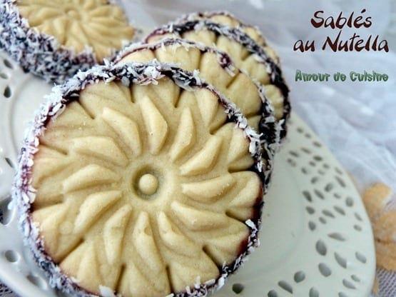 Sabl s au nutella amour de cuisine - Amour de cuisine gateau sec ...