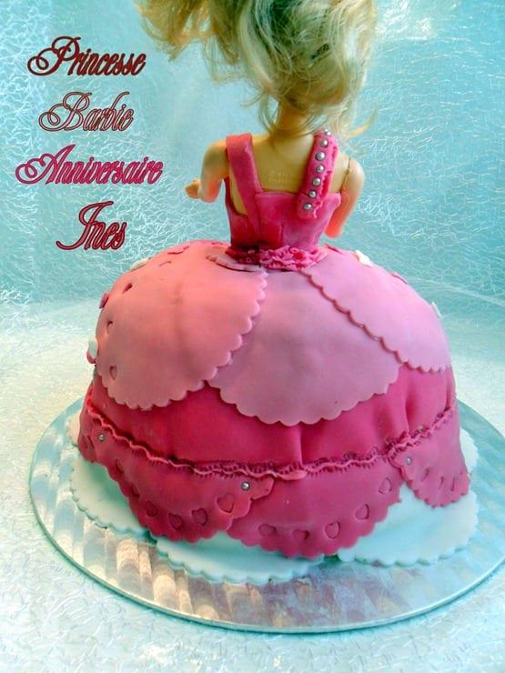princesse barbie, gateau d'anniversaire - amour de cuisine