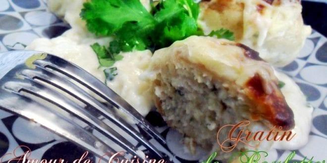 gratin de boulettes de poulet de choumicha
