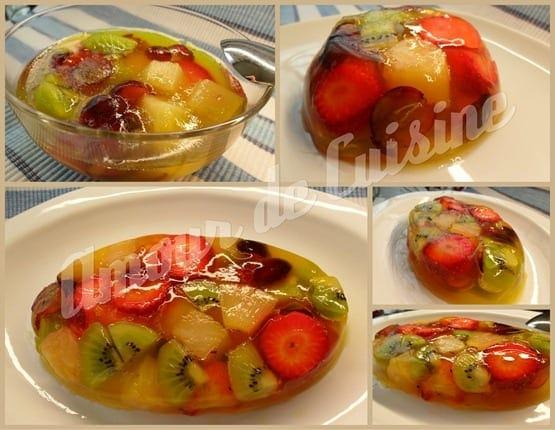 Salade de fruits en gelée