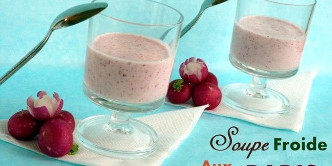 Soupe froide aux radis roses