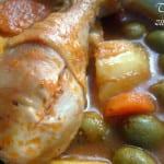 tajine zitoune au poulet