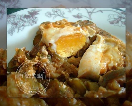 Tajine de courgettes aux oeufs amour de cuisine for 1 amour de cuisine