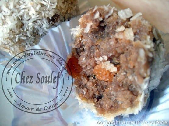 truffes a la noix de coco, boules de noix de coco