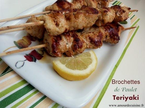 brochettes de poulet a la sauce teriyaki