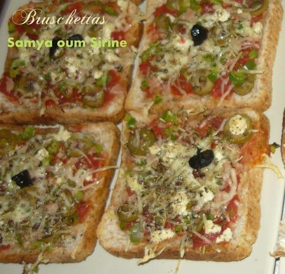 bruschettas tomate ail poivrons thon feta olives gruyere (1)
