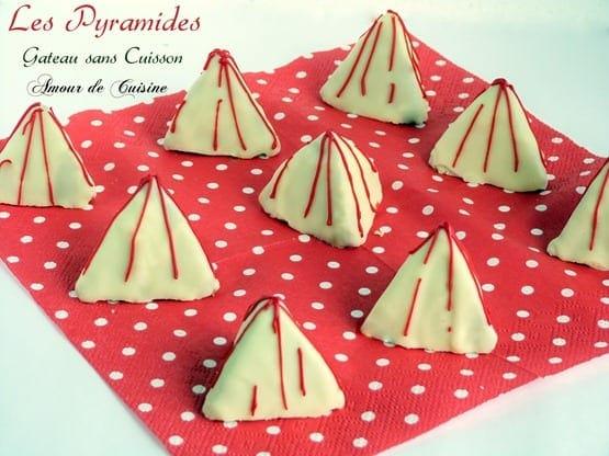 les pyramides - gateau sans cuisson