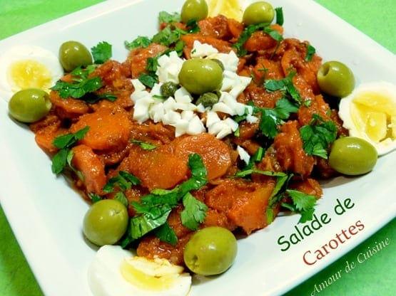 salade de carottes piquante, houriyat el matbakh