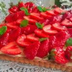 tarte aux fraises à la crème patissière