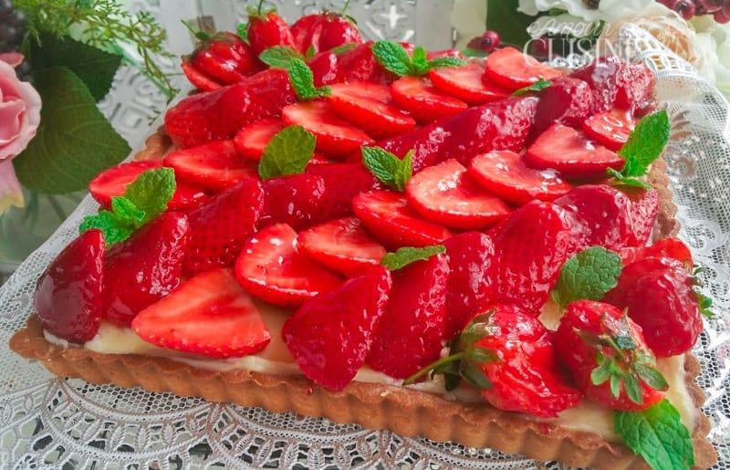 la tarte aux fraises facile