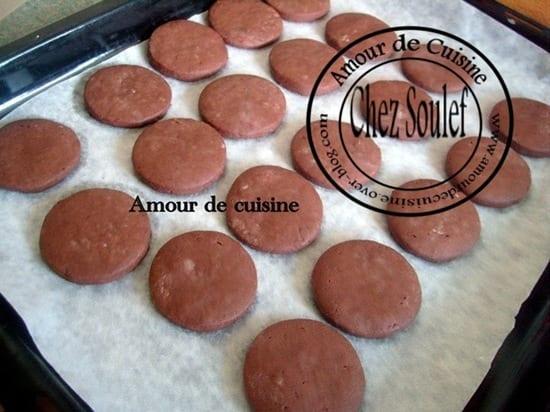 Gateaux secs rondelles au chocolat amour de cuisine for 1 amour de cuisine