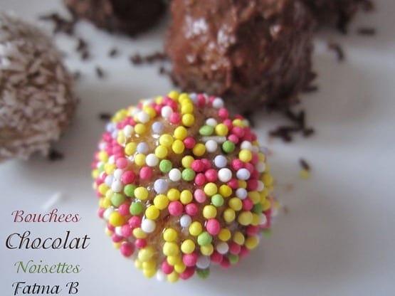 bouchees chocolat noisettes