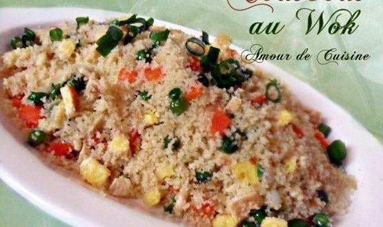 couscous cantonais, Couscous au wok