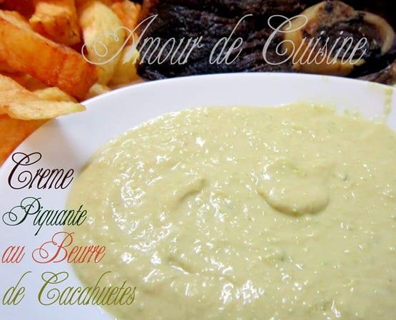 creme au beurre de cacahuete piquante