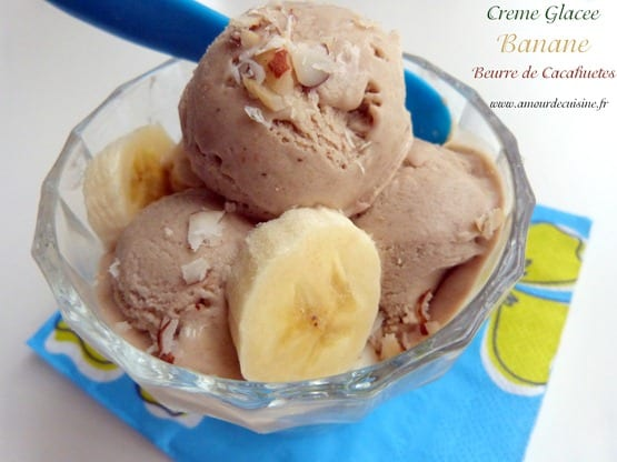 creme glacee banane beurre de cacahuetes