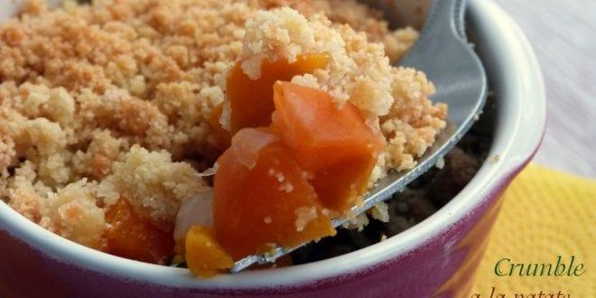 crumble a la patate douce et carotte