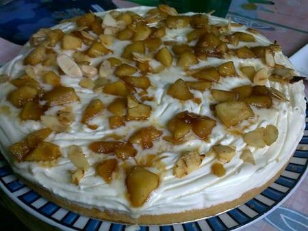 génoise mascarpone pommes caramélisées