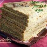 galette aux oignons, piment et origan