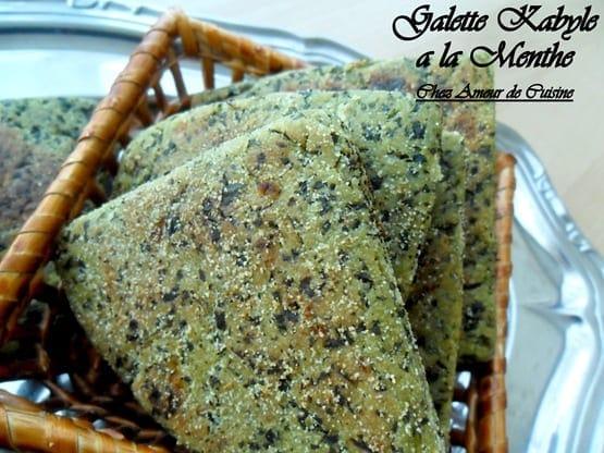 galette kabyle a la menthe
