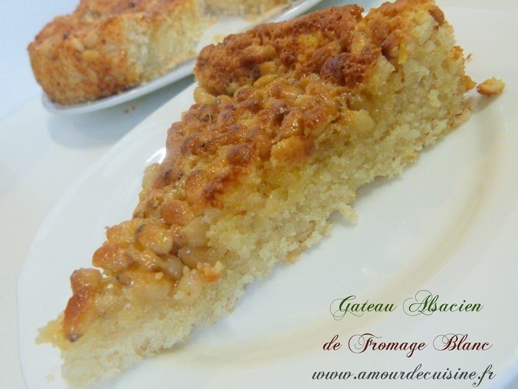 Gateau alsacien au fromage blanc