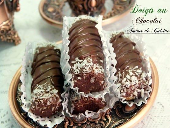 gateaux sans cuisson doigts au chocolat