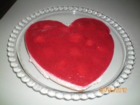 mon coeur en bavarois fraise-speculoos