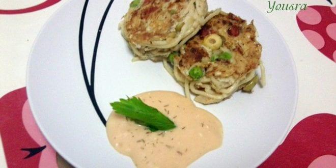 omelette aux spaghettis