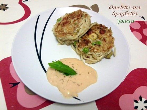 omelette aux spaguettis