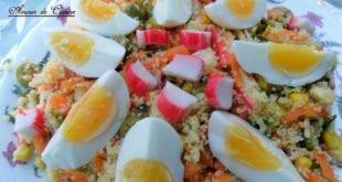 salade de couscous au surimi