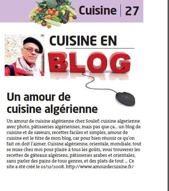 Amour de cuisine sur liberte d'Algerie 2