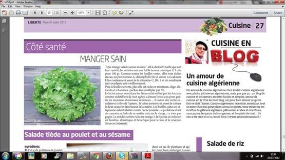 Amour de cuisine sur liberte d'Algerie