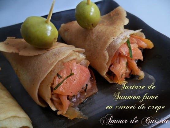 TARTARE DE SAUMON FUMEE