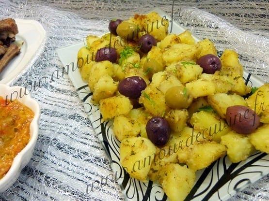 batata mchermla, pommes de terre a la chermoula