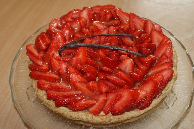 Tarte aux fraises facile à la crème pâtissière