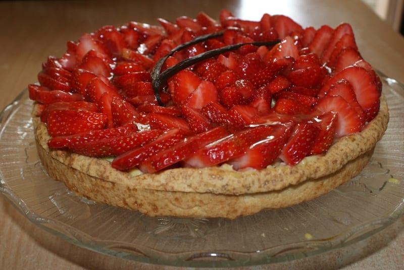 tarte aux fraises et la cr me p tissi re amour de cuisine. Black Bedroom Furniture Sets. Home Design Ideas