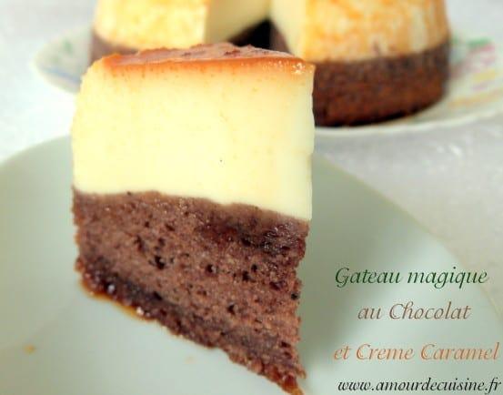 flan : creme caramel et gateau au chocolat - amour de cuisine