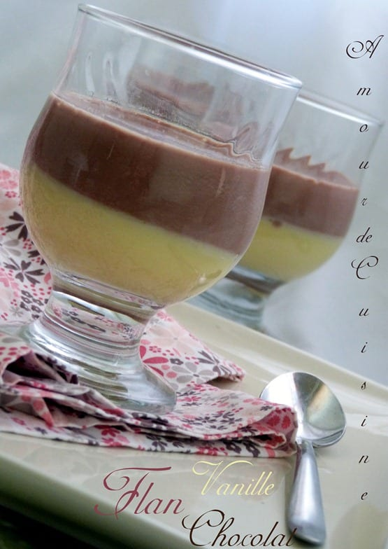 flan vanille chocolat 023