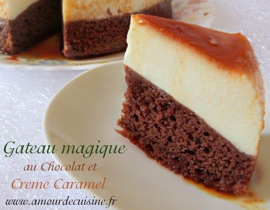 G teau magique au chocolat amour de cuisine for 1 amour de cuisine