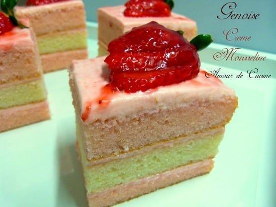genoise - crème mousseline